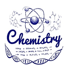 Hand drawn chemistry vector image