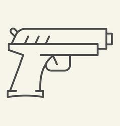 handgun thin line icon pistol vector image