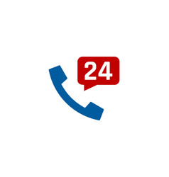 hour call logo icon design vector image