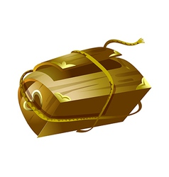 icon chest vector image