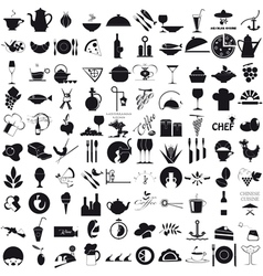 Icons for the gastronomy vector