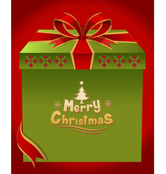 Merry christmas gift vector