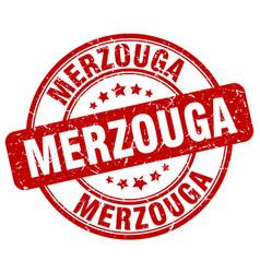 Merzouga red grunge round vintage rubber stamp vector
