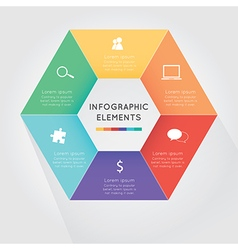 Modern hexagon infographics options vector image