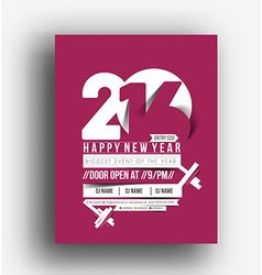 New Year Party Flyer vector image