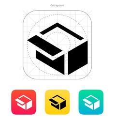 Open box icon vector