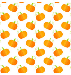 orange squash fresh vegetable seamless pattern vector image