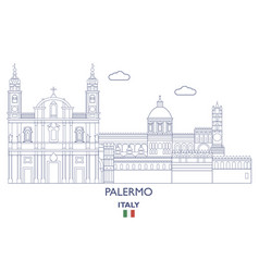 palermo city skyline vector image