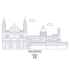 Palermo city skyline vector