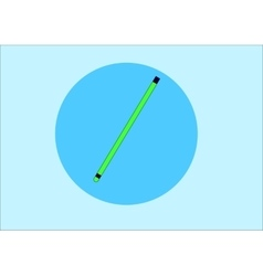 pencil isolated on white vector image