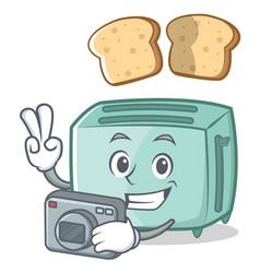 photography toaster character cartoon style vector image