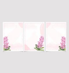 pink mokara orchid on watercolor splash wedding vector image