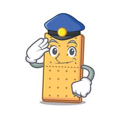 Police graham cookies character cartoon vector