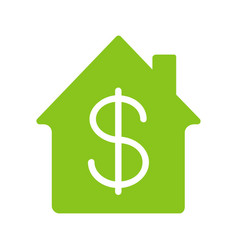Property purchase glyph color icon vector