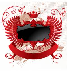 red black banner vector image