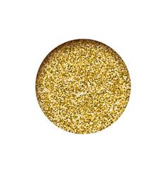 round glitter golden banner hole sparkling dust vector image