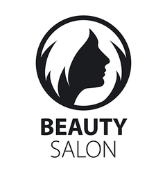 Round logo womens hairstyle vector image