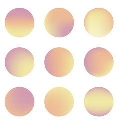 Set of nine colorful circles with place for text vector image
