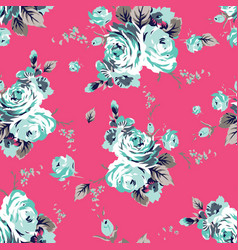 shabchic vintage roses seamless pattern vector image