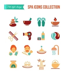 Spa treatments for men and women Set of spa and vector image