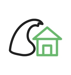 Storm hitting house vector