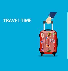 Travel bag luggage vector