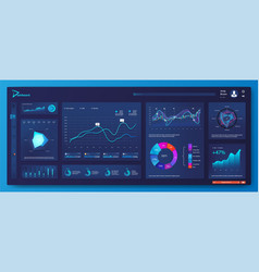 Ui ux kit dashboard vector