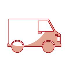 Van delivery service icon vector
