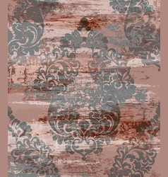 vintage grunge baroque pattern beautiful vector image