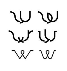 w logo monogram vector image