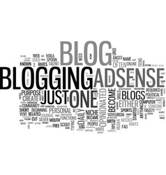 what is a blog and why have one text word cloud vector image