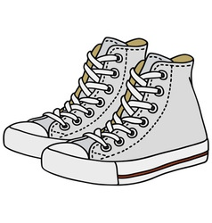 White sneakers vector image