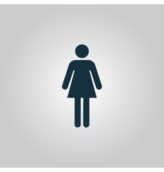 Woman icon on a grey background vector image