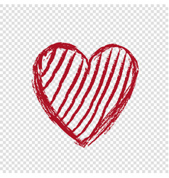 doodle heart with lines happy valentines day vector image vector image