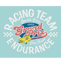 Endurance racing team vector image vector image