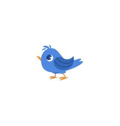 flat hand drawn sparrow bird isolated vector image