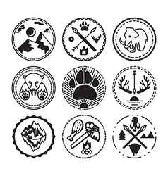 Nature and historical badges vector image
