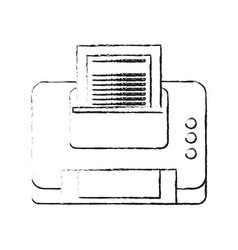 printer with paper icon image vector image