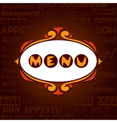 Template menu for restaurant cafe bare vector