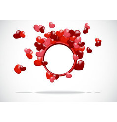 abstract background with a red heart vector image vector image