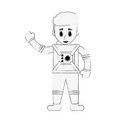 astronaut cartoon isolated vector image