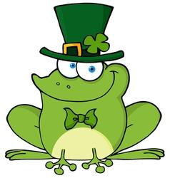 Happy Leprechaun Frog vector image vector image