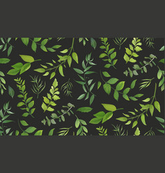 seamless pattern of eucalyptus palm fern vector image