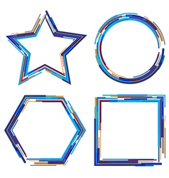 set of abstract geometrical frames vector image vector image