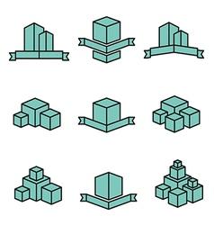 Set of real estate house logo designs vector image