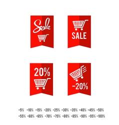 Set of sale tag circle banner ribbon paper 005 vector image vector image