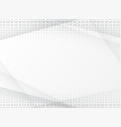 abstract halftone white and grey background vector image vector image