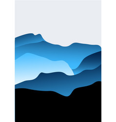 background with mountains vector image