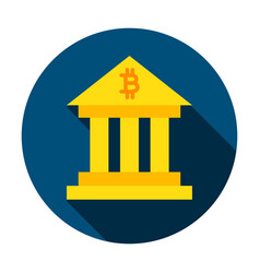 bitcoin building circle icon vector image