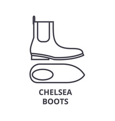 Chelsea boots line icon outline sign linear vector